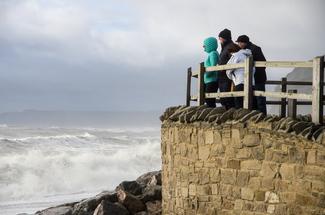 stürmische Südküste, England